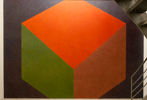 Sol LeWitt / Sol LeWitt Tilted Form with color ink washes superimposed  1987 Wall Drawing #524  Drawn by Nicolai Angelov