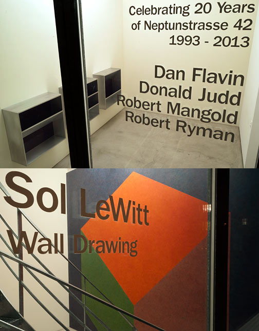 Dan Flavin,  				Donald Judd,  				Sol LeWitt,  				Robert Mangold,  				Robert Ryman, Celebrating 20 Years of Neptunstrasse 42 | Part I