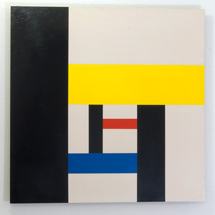 Andreas Christen / Untitled  1958  70 x 70 cm Acrylic on Masonit