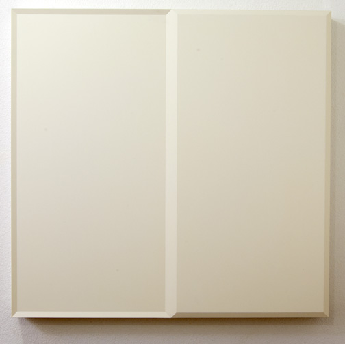 Andreas Christen / Untitled  1988  83 x 86 x 8 cm MDF-plate, white paint sprayed