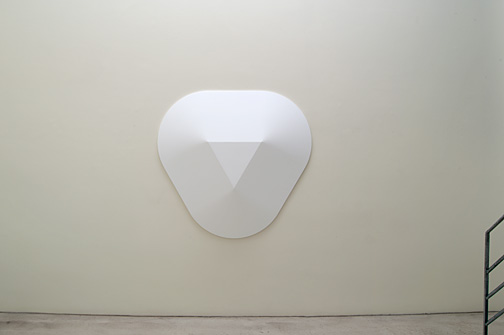 Andreas Christen / Monoform  1961  143 x 149 x 13 cm Polyester white paint sprayed
