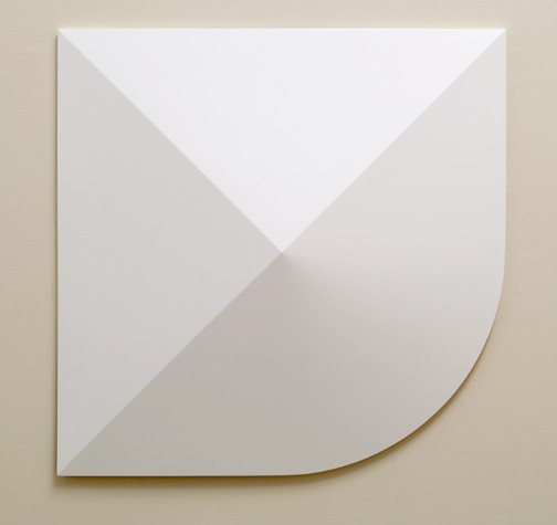 Andreas Christen / Monoform  1959 / 1960  99 x 99 cm Polyester white paint sprayed