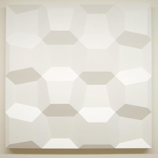 Andreas Christen / Komplementär-Struktur  1974  120 x 120 x 9 cm Polyester weiss gespritzt