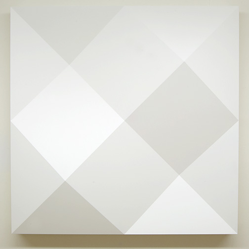 Andreas Christen / Komplementär-Struktur  1980  130 x 130 x 25 cm Epoxy, white paint sprayed