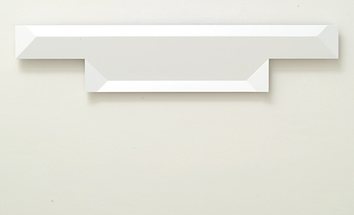 Andreas Christen / Untitled  2005  24 x 116 cm MDF-plate, white paint sprayed