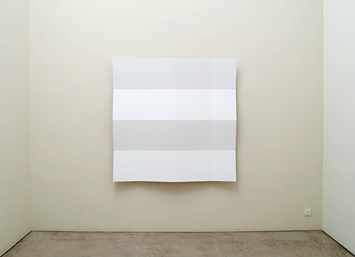 Andreas Christen / Untitled  2003  160 x 160 cm MDF-plate, white paint sprayed