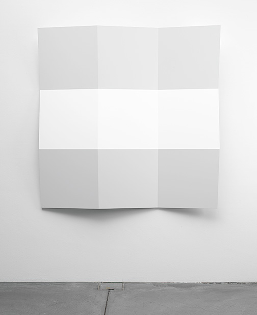 Andreas Christen / Ohne Titel  2004  160 x 160 x 18.5 cm MDF-Platte, weiss gespritzt