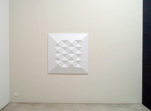 Andreas Christen / Monoform  1964  120 x 120 cm Polyester, weiss gespritzt