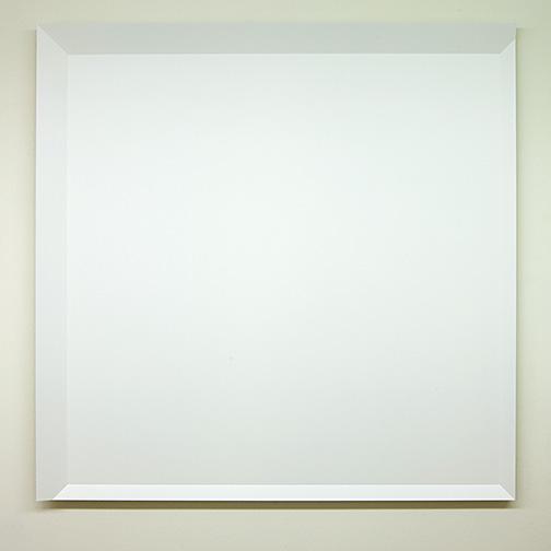Andreas Christen / ohne Titel  1998  135 x 135 x 6.5 cm MDF-Platte, weiss gespritzt