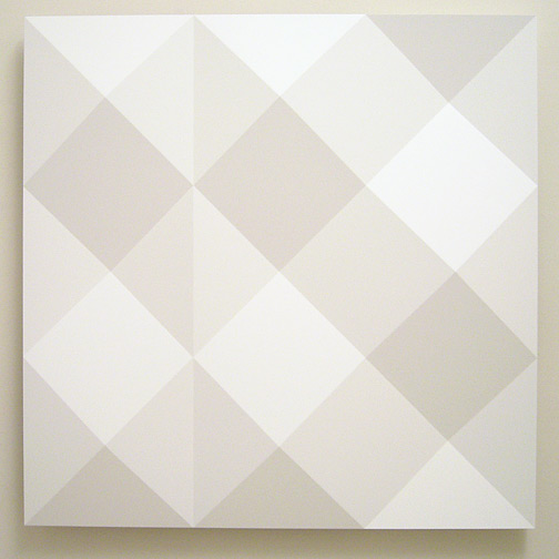 Andreas Christen / untitled  2005 160 x 160 cm MDF-plate, white paint sprayed (Nuvovern DS 10.1)