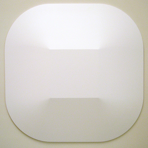 Andreas Christen / Monoform  1961 149 x 149 cm Polyester white paint sprayed