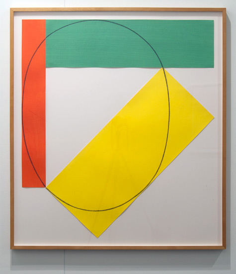 "Robert Mangold / Robert Mangold Three Color Frame Painting  1985 92 x 81.3 cm / 36.25 x 32 "" Acrylic and pencil on paper"