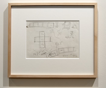 Sol LeWitt / Sol LeWitt Working Drawing  1966 14.5 x 21 cm ball-point pen on paper CO210002