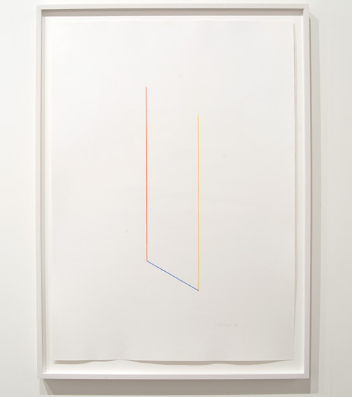Fred Sandback / Fred Sandback Untitled  1988 109,5 x 79 cm color crayon on paper
