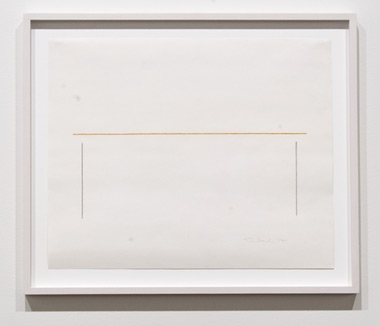 Fred Sandback / Fred Sandback Untitled  1988 35 x 42,7 cm pastel and pencil on paper