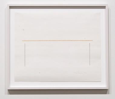 Fred Sandback / Fred Sandback Untitled  1988 35 x 42,7 cm pastel and pencil on paper