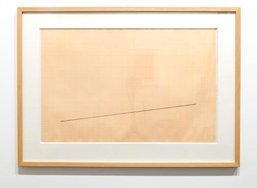 Fred Sandback / Fred Sandback Untitled  1988 50 x 77 cm color crayon on graph paper