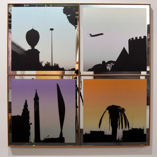 Glen Rubsamen / Glen Rubsamen Pyramide  2010 143,5 x 143,5 cm digital image on mirror