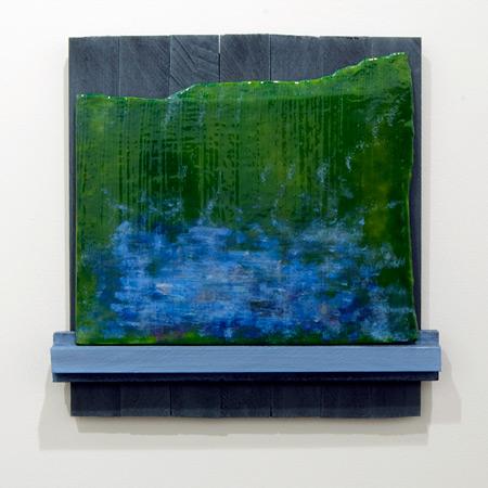 Joseph Egan / Joseph Egan fish are jumping  2010 38 x 37,5 x 5 cm various paints on wood