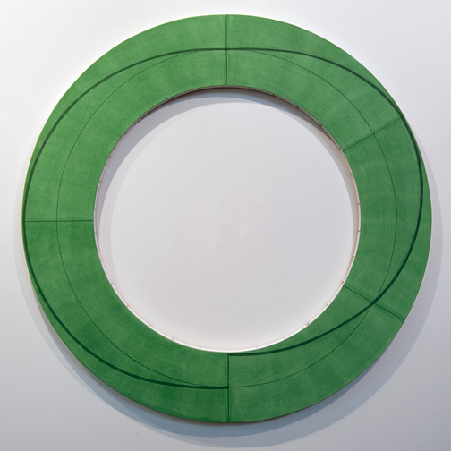 "Robert Mangold / Robert Mangold Ring Image J  2010 152,4 x 152,4 cm / 60 x 60 "" Acrylic an pencil on canvas"