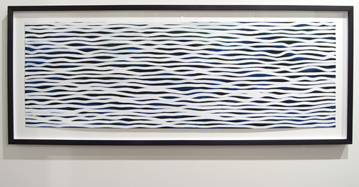 "Sol LeWitt / Sol LeWitt Black and White Horizontal Lines on Color  2005 51 x 152 cm / 20 x 60 "" gouache on paper CO2039397"