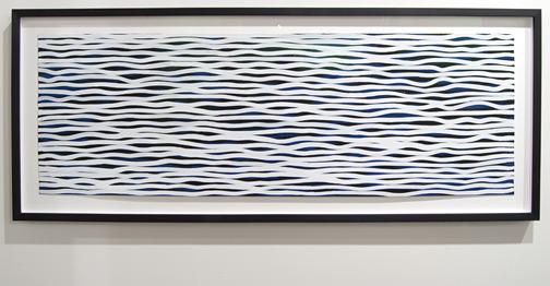"Sol LeWitt / Sol LeWitt Black and White Horizontal Lines on Color  2005 51 x 152 cm / 20 x 60 "" gouache on paper CO2039397"