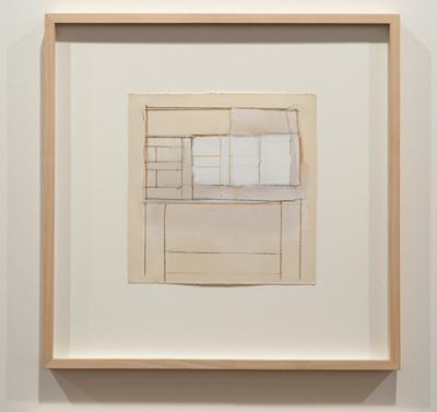 James Bishop / James Bishop Untitled  1964 20,3 x 20,1 cm Oel und Farbstift auf Papier