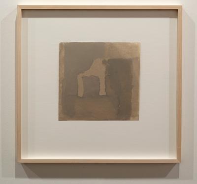 James Bishop / James Bishop Untitled  1974 21,0 x 20,8 cm Oel auf Papier