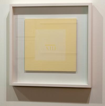 Antonio Calderara / Antonio Calderara Senza titolo  1976 27 x 27 cm Oel auf Holztafel