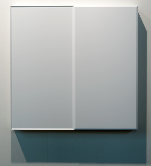 Andreas Christen / Andreas Christen Ohne Titel  1988 82 x 84 x 8,5 cm Wood, white brushed