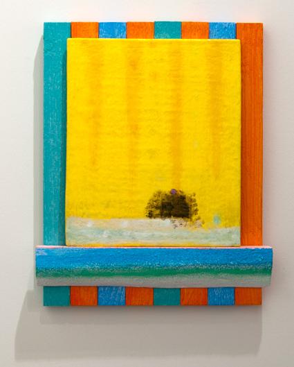 Joseph Egan / Joseph Egan phoenix  2013 40 x 33 x 4,5 cm Holz und Panel bemalt