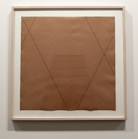 Robert Mangold / Robert Mangold Untitled  1974 55,5 x 55,5 cm Color pencil on brown paper