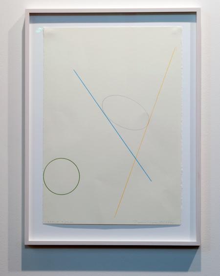 David Rabinowitch / David Rabinowitch Construction of Vision  1975 47,5 x 33,5 cm Bleistift und Farbstift auf Papier