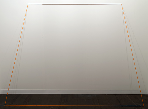 Fred Sandback / Fred Sandback Untitled (Trapez) 1968 203,2 x 274,3 cm Orange, elastische Kordel