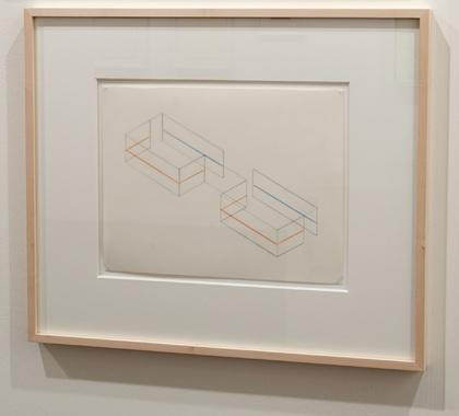 Fred Sandback / Fred Sandback  Untitled (Study for Annemarie Verna Gallery, Zurich)  ca. 1990 21,6 x 27,9 cm Pastellstift und Bleistift auf vellum FLS 0207