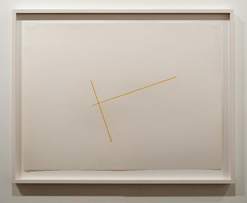 Fred Sandback / Fred Sandback Untitled  ca. 1976 56 x 76 cm Farbstift auf Papier