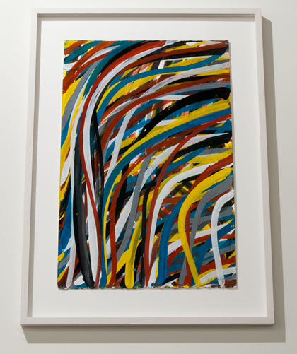 Sol LeWitt / Sol LeWitt Wavy Brushstrokes  2002 57,5 x 38 cm Gouache on paper