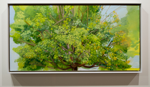 Sylvia Plimack-Mangold / Sylvia Plimack Mangold Summer Maple 2009  2009 62,2 x 122 cm Oil on canvas