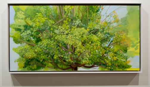 Sylvia Plimack-Mangold / Sylvia Plimack Mangold Summer Maple 2009  2009 62,2 x 122 cm Oel auf Leinwand