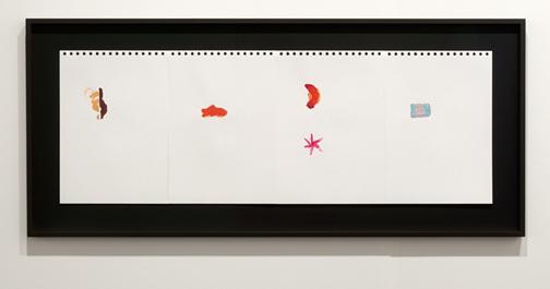 Richard Tuttle / Richard Tuttle Indoor Outdoor (1-4)  2012 29,8 x 21 cm Acryl auf Papier