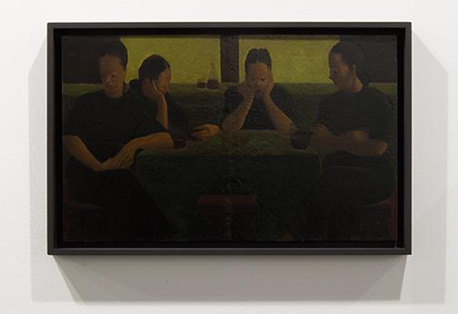 Antonio Calderara / Antonio Calderara Quattro Donne  1948  27 x 44 cm Oil on wood panel