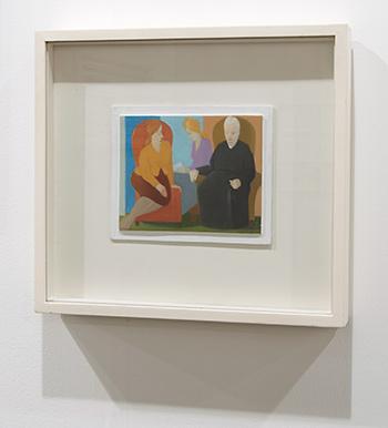 Antonio Calderara / Antonio Calderara In salotto  1955  13 x 16 cm Oil on wood panel