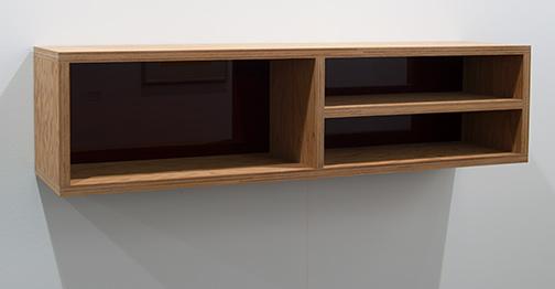 Donald Judd / Donald Judd Untitled  1992  25 x 25 x 100 cm Douglas fir plywood and amber Plexiglas