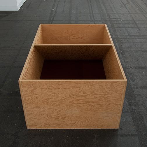 Donald Judd / Donald Judd Untitled  1979  49.5 x 114.3 x 77.5 cm Douglas fir plywood and painted bottom (burned siena)