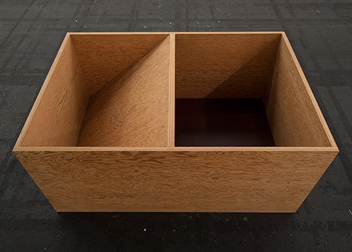 Donald Judd / Donald Judd Untitled  1979  49.5 x 114.3 x 77.5 cm Douglas fir plywood and painted bottom (burned siena)