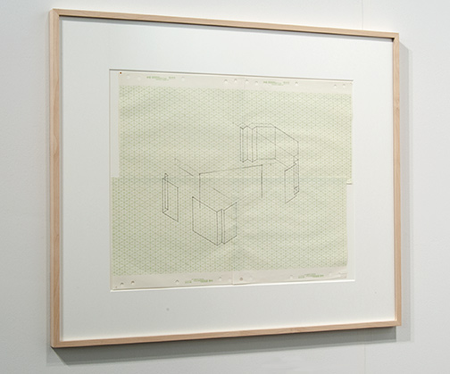 Fred Sandback / Fred Sandback Untitled  n.d. 39.4 x 49.5 cm Pencil on four sheets of attached isometric paper