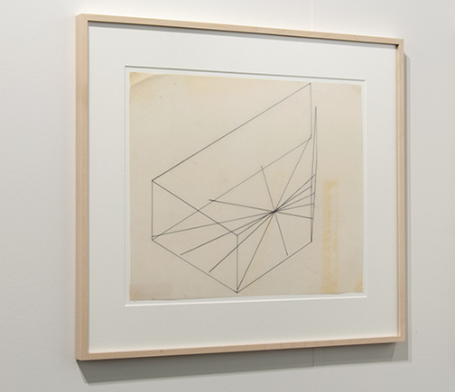 Fred Sandback / Fred Sandback Untitled (1 of 2 Series of 6 Constructions for Galerie Heiner Friedrich, Cologne)  1974 32.4 x 42.5 cm Marker on vellum