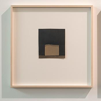 James Bishop / James Bishop Untitled  2014  15.1 x 13.5 cm Oil and collage on paper