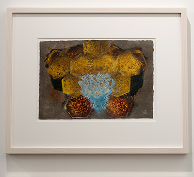 Joseph Egan / Joseph Egan colorcomb (Nr. 20)  2014  40 x 48 x 3 cm Paper: 21 x 30 Oil paints on paper with framing