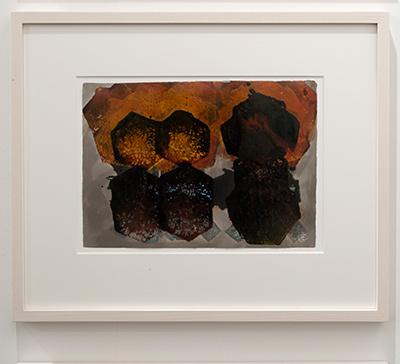 Joseph Egan / Joseph Egan colorcomb (Nr. 36)  2014  40 x 48 x 3 cm Paper: 21 x 30 Oil paints on paper with framing
